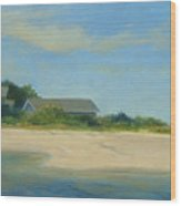 Hamptons Beach House Wood Print