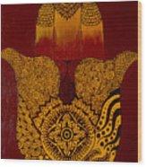 Hamsa- Brown Wood Print