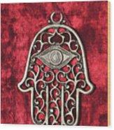 Hamsa  Wood Print by Shay Levy