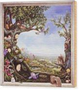 Hamster Tree Window Wood Print