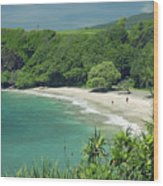 Hana Coast, Hamoa Beach Wood Print