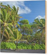 Hana Palm Tree Grove Wood Print by Inge Johnsson