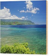 Hanalei Bay And Bali Hai Wood Print