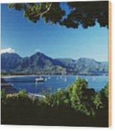 Hanalei Bay Boats Wood Print
