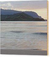Hanalei Bay Evening Wood Print