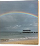 Hanalei Bay Rainbow Wood Print