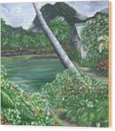 Hanalei Kanaka House Wood Print