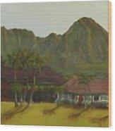 Hanalei Wood Print