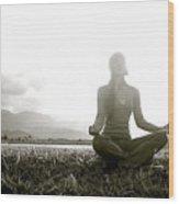 Hanalei Meditation Wood Print
