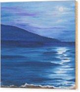 Hanalei Moon Wood Print