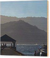 Hanalei Pier In Kauai Wood Print