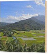 Hanalei River Overlook In Kauai Wood Print