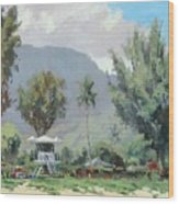 Hanalei Tower Wood Print