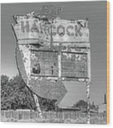 Hancock Gas Sign Wood Print