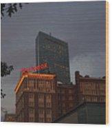 Hancock Over The Lenox Boston, Ma Wood Print