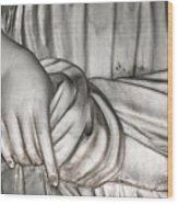 Hand And Robe Wood Print