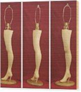 Hand Carved Wood Leg Lamp Wood Print