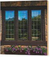 Hand Hewn Oak Frames Wood Print