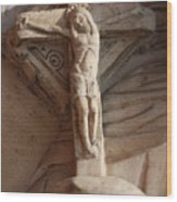 Hand Holding Crucifix In Venice Wood Print