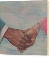 Hand In Hand Forever Wood Print