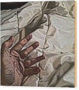 Hand On Comforter Wood Print