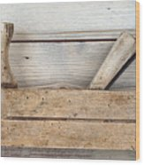 Hand Tool - Old Wood Planer Wood Print