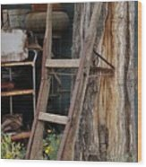 Hand Truck Of The Past Wood Print
