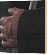 Hand With Bandaid Wood Print