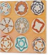 Native American Woven Straw Art Wood Print