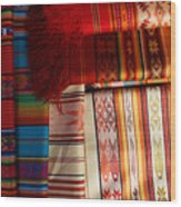Hand Woven Table Cloths Wood Print