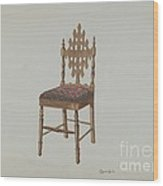 Handcarved Side Chair Wood Print