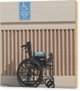 Handicapped Parking Wood Print