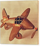 Handmade Metal Toy Plane Wood Print