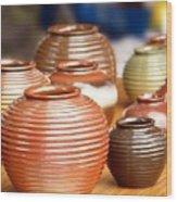 Handmade Pottery Wood Print