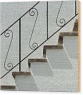Handrail And Steps 1 Wood Print