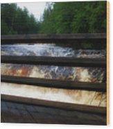 Handrails Tahquamenon Lower Falls Upper Peninsula Michigan 02 Wood Print
