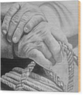 Hands Of The Master Wood Print