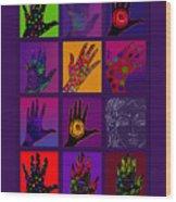 Hands Poster Wood Print by Lydia L Kramer