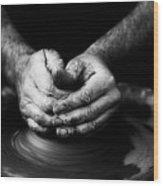 Hands That Form Wood Print