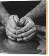 Hands That Shape Wood Print