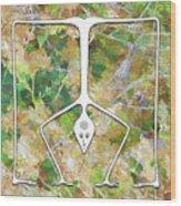 Handstand Wood Print