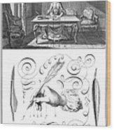 Handwriting, 18th Century Wood Print