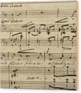 Handwritten Score For Hjertets Melodier, Opus 5 Wood Print