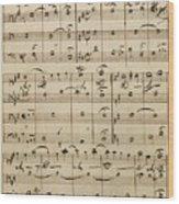 Handwritten Score Wood Print