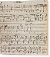 Handwritten Score For Waltz For Piano, Opus 39 Wood Print
