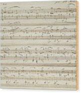 Handwritten Score For Waltz In Flat Major Wood Print