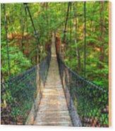 Hanging Bridge Wood Print