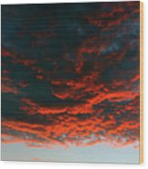 Hanging Clouds Wood Print