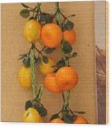 Hanging Fruit Wood Print