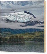 Hanging Glacier Wood Print